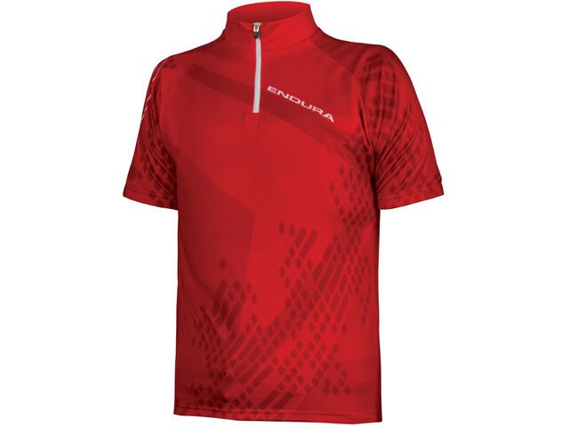 Endura Ray S/S Jersey Kids Red